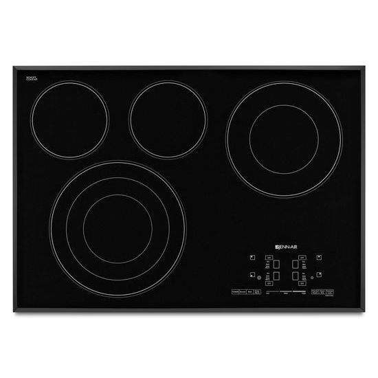 "Jenn-Air Black Floating Glass 30"" Electric Radiant Cooktop with Glass-Touch Electronic Controls"