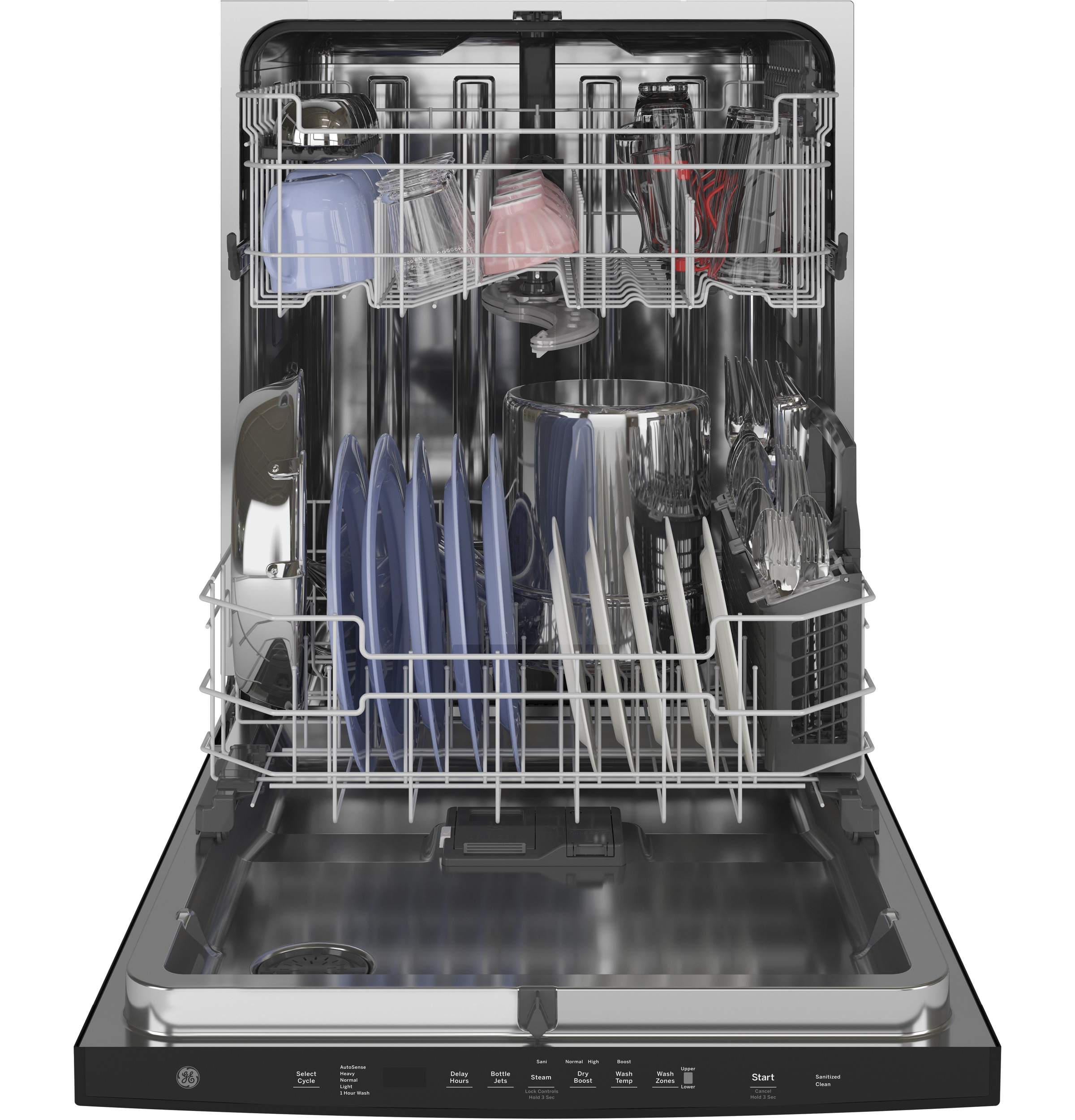 Model: GDT645SGNBB | GE GE® Top Control with Stainless Steel Interior Dishwasher with Sanitize Cycle & Dry Boost with Fan Assist