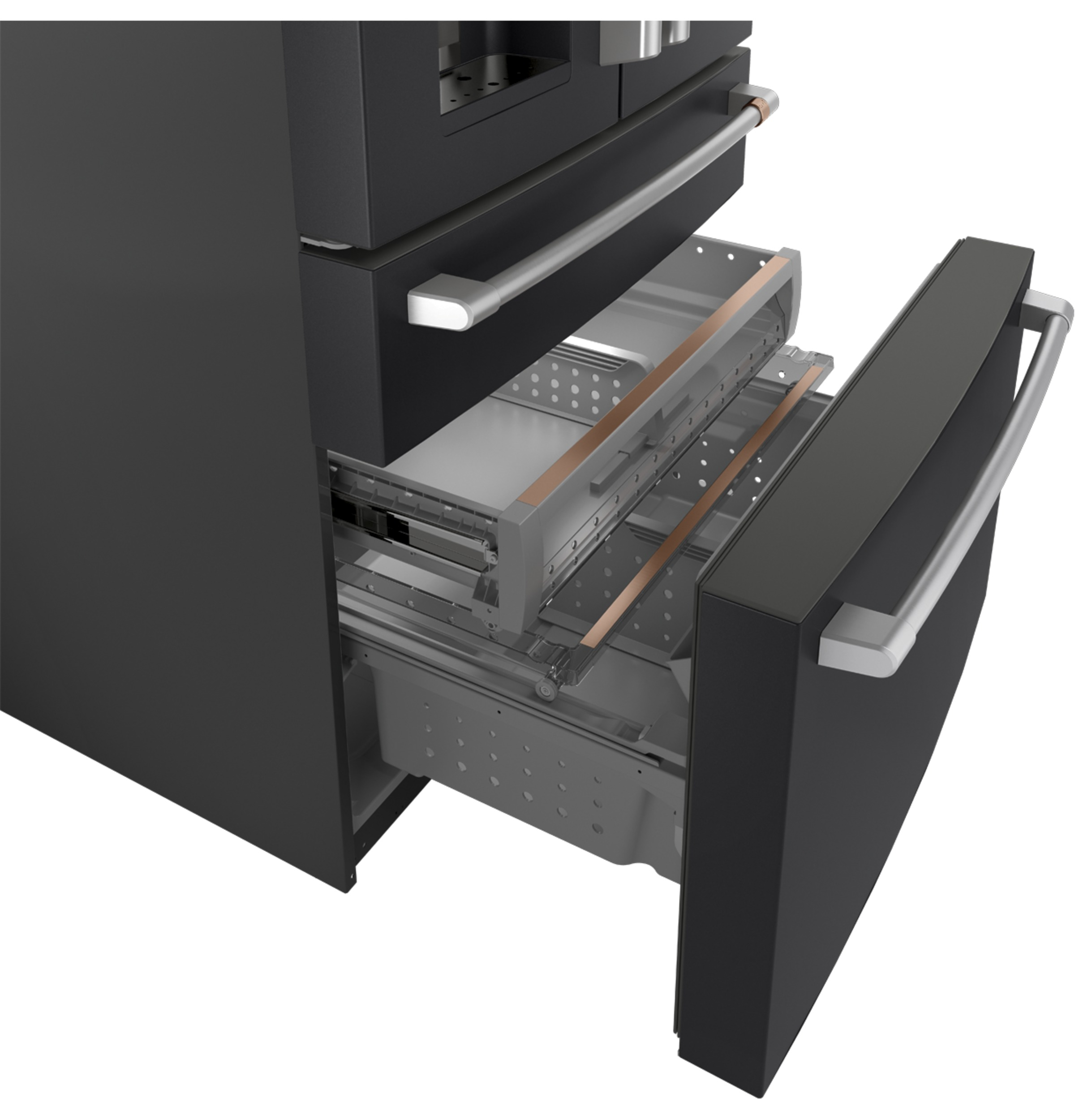 Model: CVE28DP3ND1 | Cafe Café™ ENERGY STAR® 27.8 Cu. Ft. Smart 4-Door French-Door Refrigerator
