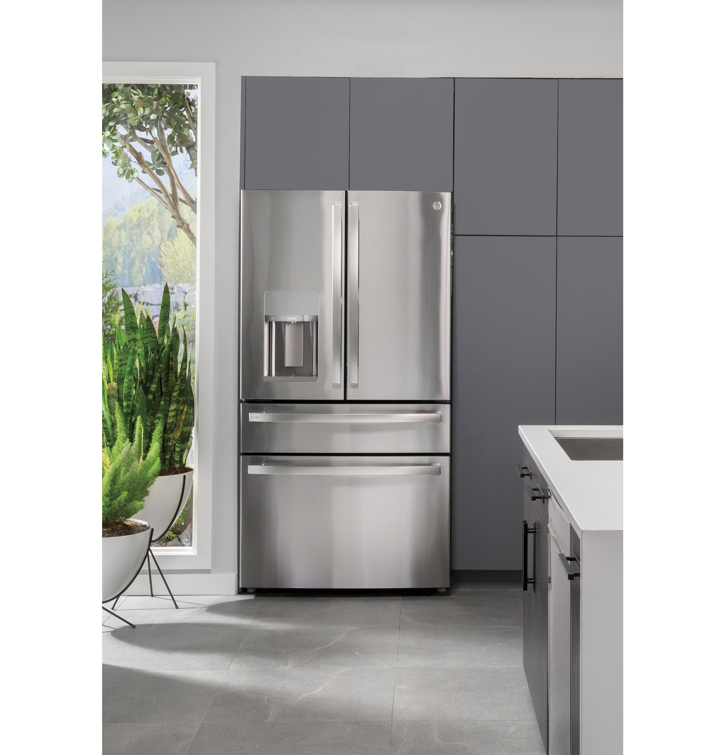Model: PVD28BYNFS | GE Profile GE Profile™ 27.9 Cu. Ft. Smart 4-Door French-Door Refrigerator with Door In Door