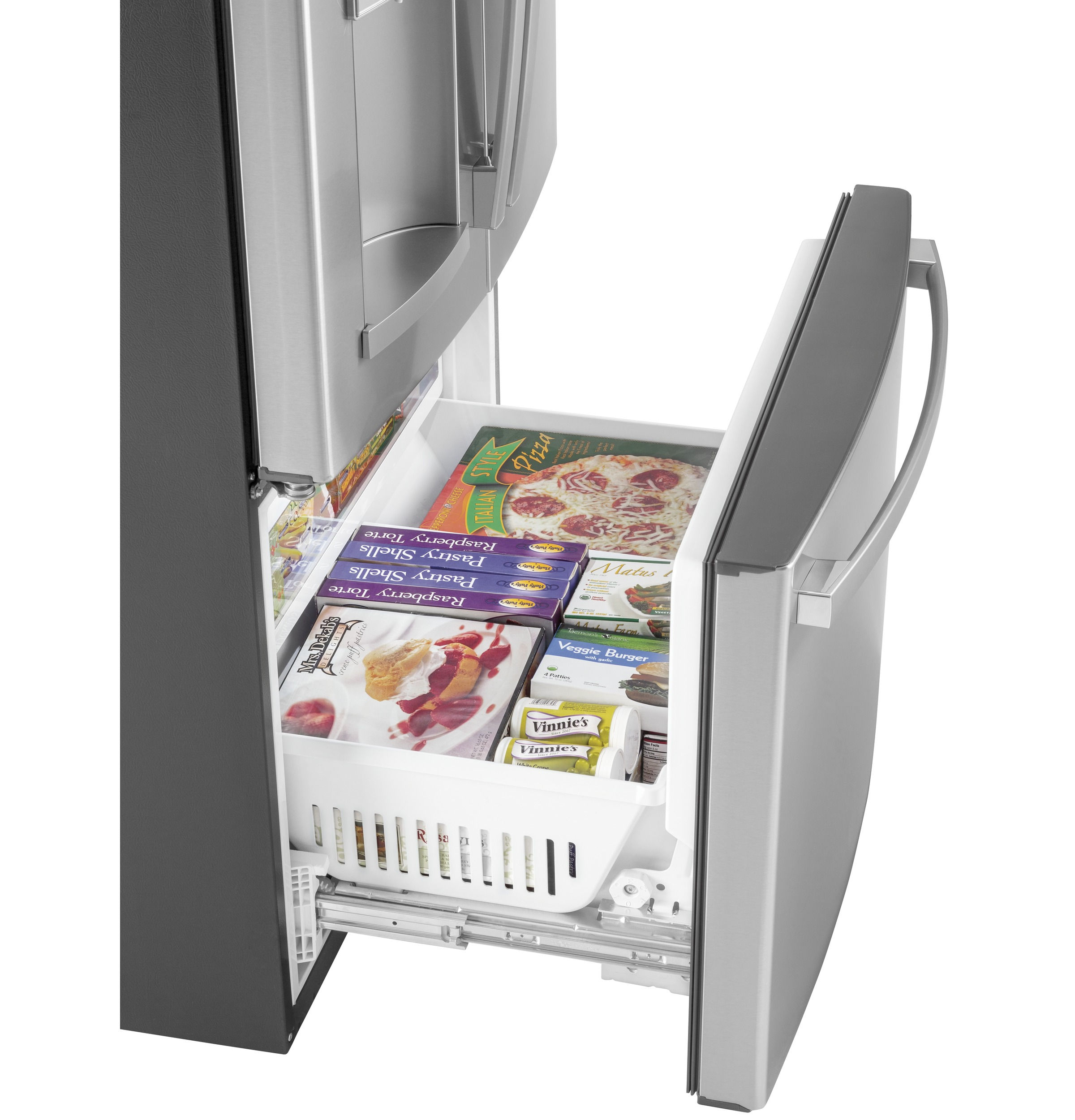 Model: GFD28GYNFS | GE GE® 27.8 Cu. Ft. French-Door Refrigerator with Door In Door