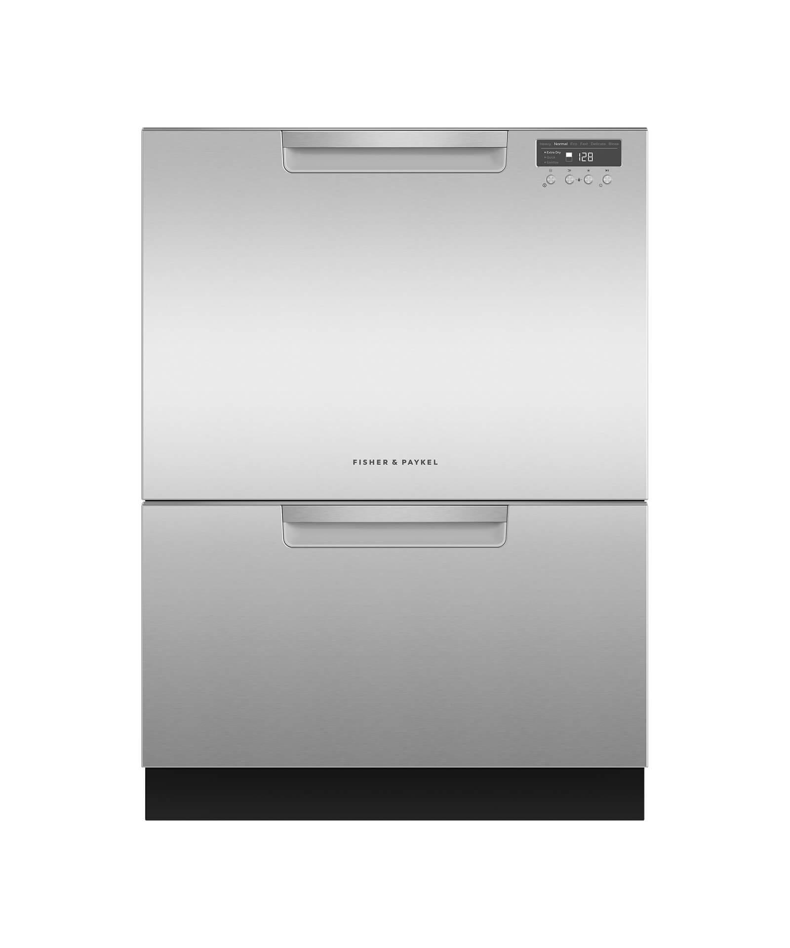 Fisher and Paykel Double DishDrawer™, 14 Place Settings, Water Softener (Tall)