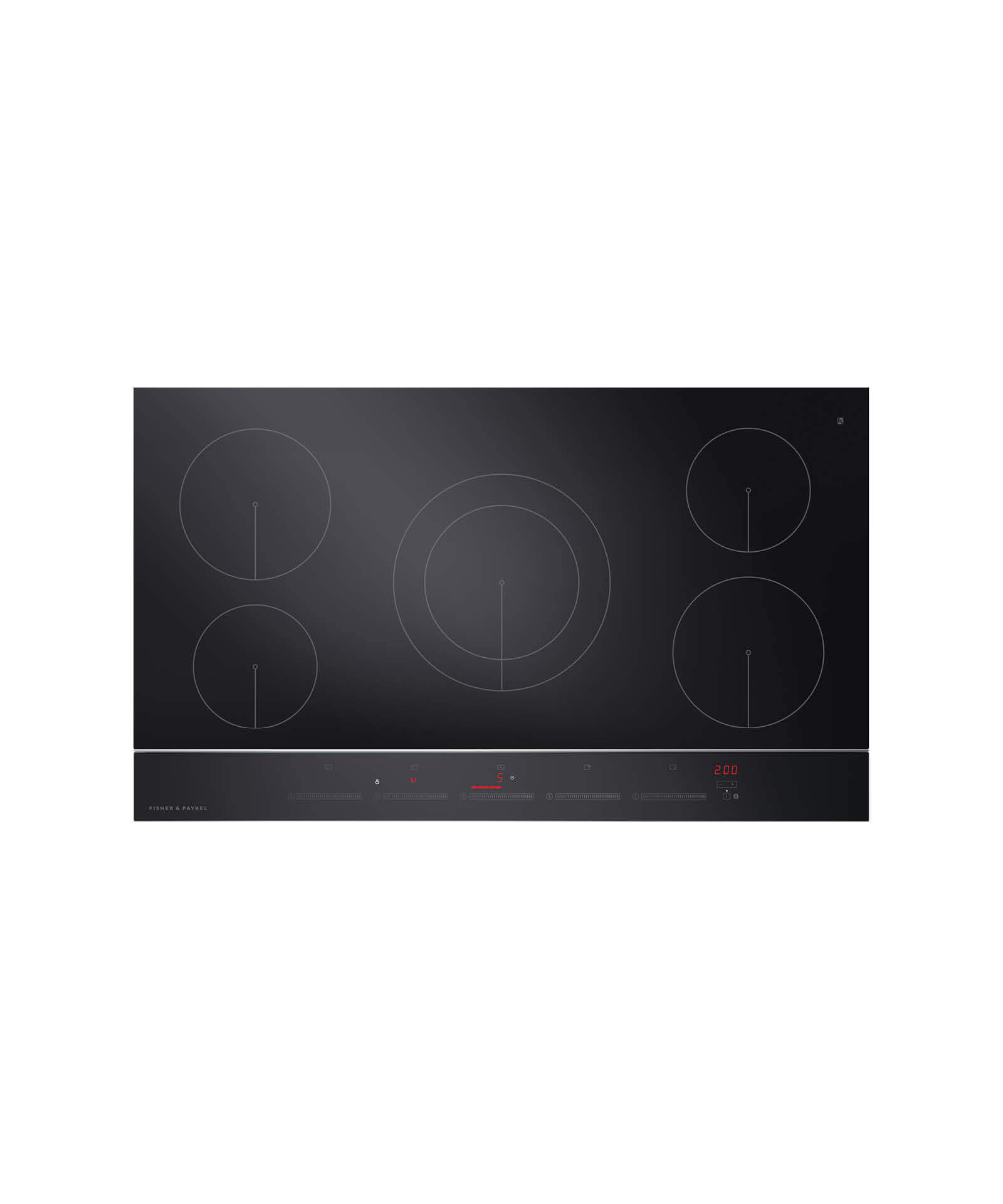 """Fisher and Paykel Induction Cooktop 36"""" 5 Zone"""