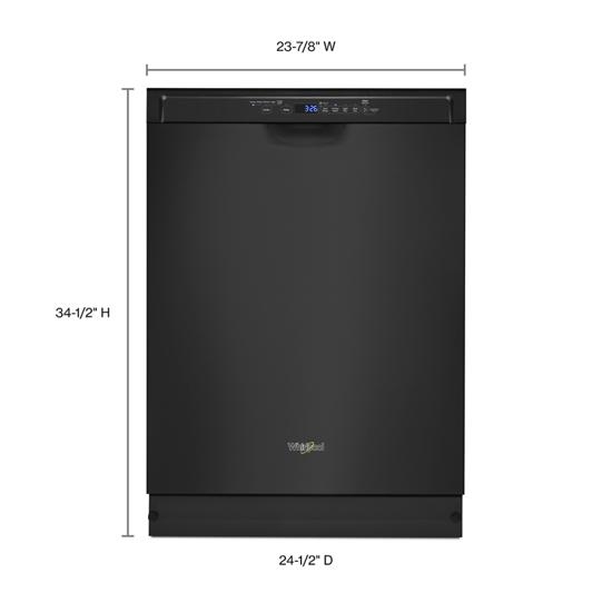 Model: WDF560SAFB | Whirlpool Stainless steel dishwasher with 1-Hour Wash cycle