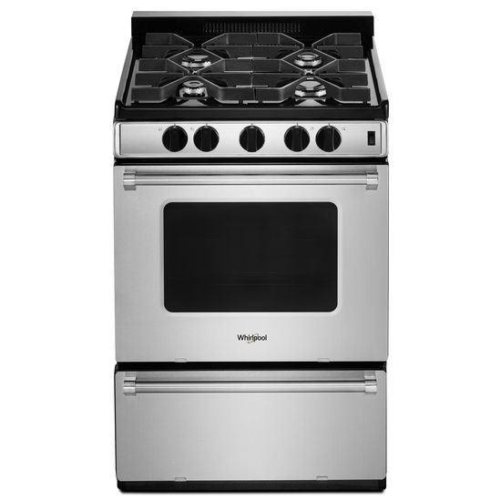Model: WFG500M4HS | Whirlpool 24-inch Freestanding Gas Range with Sealed Burners