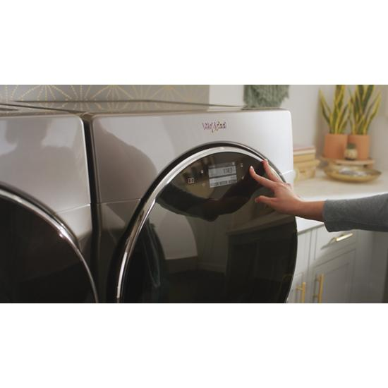 Model: WFW9620HBK | Whirlpool 5.0 cu. ft. Smart Front Load Washer with Load & Go™ XL Plus Dispenser