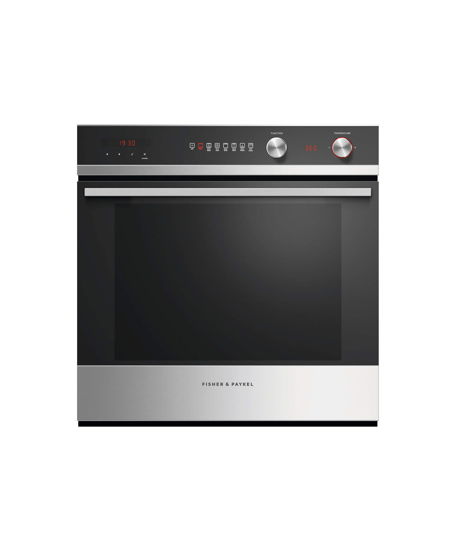 "Fisher and Paykel Built-in Oven, 24"", 3 cu ft, 7 Function, Self-cleaning"
