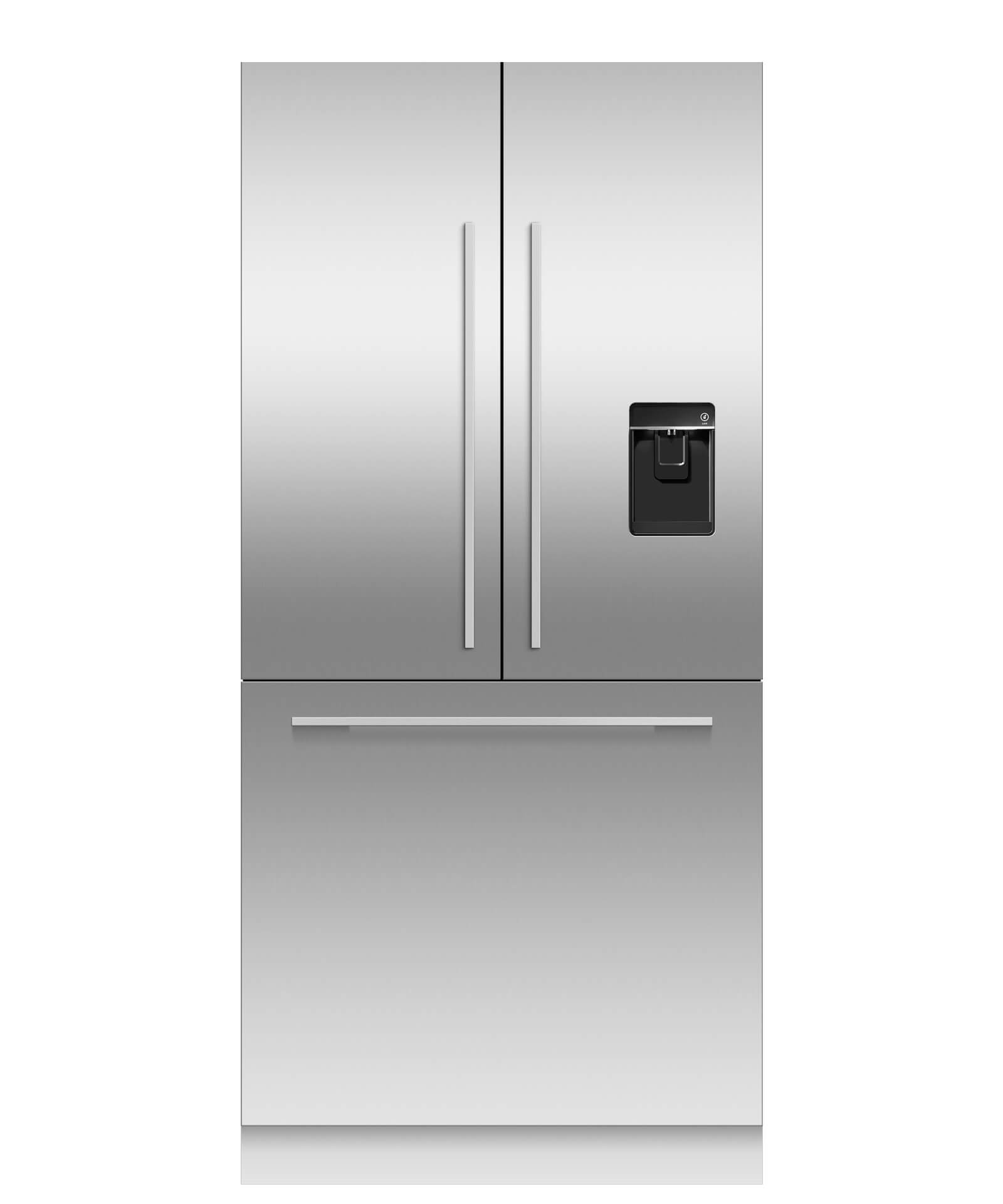 Fisher and Paykel Integrated French Door Refrigerator 16.8cu ft, Ice & Water