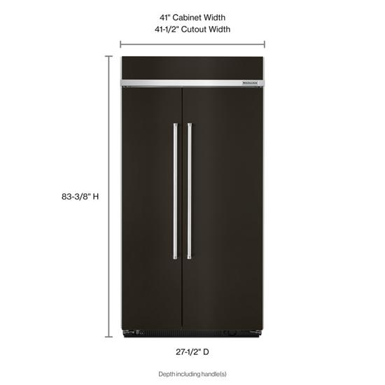 Model: KBSN602EBS | KitchenAid 25.5 cu. ft 42-Inch Width Built-In Side by Side Refrigerator with PrintShield™ Finish