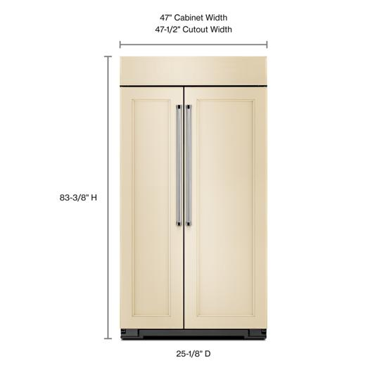 Model: KBSN608EPA | KitchenAid 30.0 cu. ft 48-Inch Width Built-In Side by Side Refrigerator