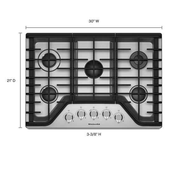 "KitchenAid 30"" 5-Burner Gas Cooktop"