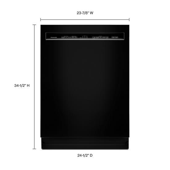 Model: KDFE104HBL | KitchenAid 46 DBA Dishwasher with ProWash™, Front Control