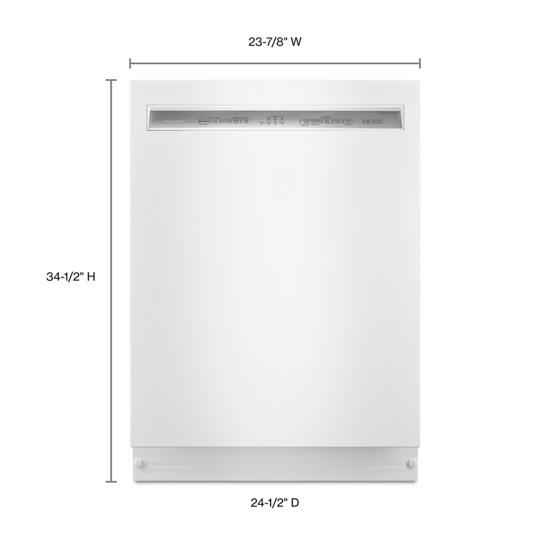 Model: KDFE104HWH | KitchenAid 46 DBA Dishwasher with ProWash™, Front Control