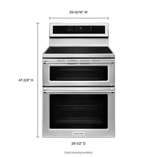 KitchenAid 30-Inch 4-Element Induction Double Oven Convection Range
