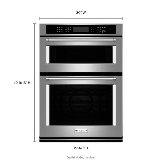 """KitchenAid 30"""" Combination Wall Oven with Even-Heat™  True Convection (Lower Oven)"""