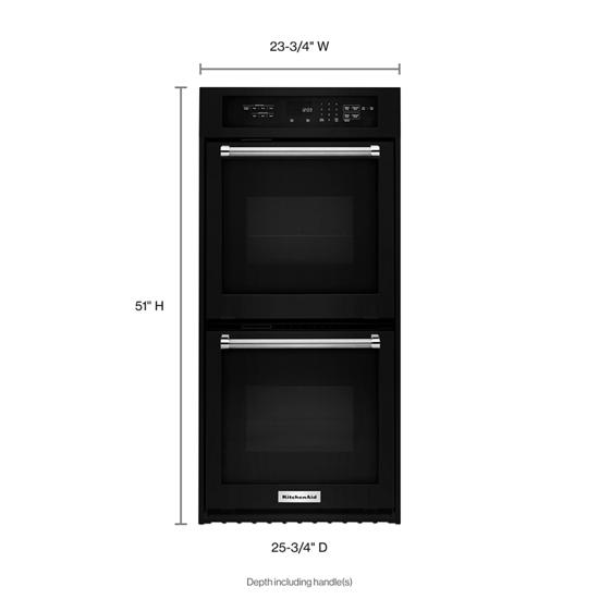 "Model: KODC304EBL | KitchenAid 24"" Double Wall Oven with True Convection"