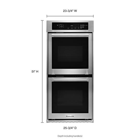 "Model: KODC304ESS | KitchenAid 24"" Double Wall Oven with True Convection"