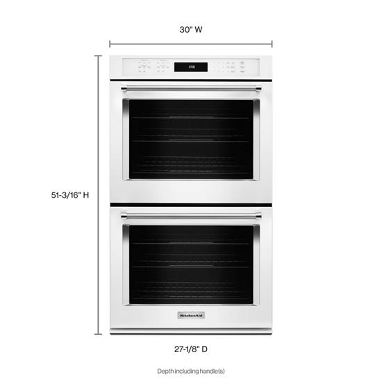 "Model: KODE500EWH | KitchenAid 30"" Double Wall Oven with Even-Heat™ True Convection"