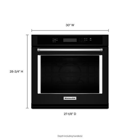 "Model: KOSE500EBL | KitchenAid 30"" Single Wall Oven with Even-Heat™ True Convection"
