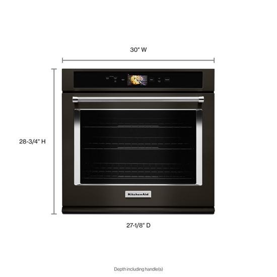 "Model: KOSE900HBS | KitchenAid Smart Oven+ 30"" Single Oven with Powered Attachments and PrintShield™ Finish"