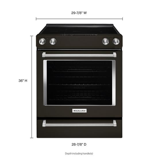 Model: KSEG700EBS | KitchenAid 30-Inch 5-Element Electric Slide-In Convection Range