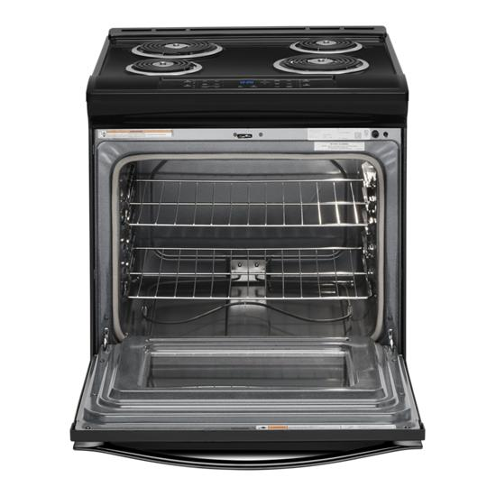 Model: WEC310S0FB   Whirlpool 4.8 cu. ft. Guided Electric Front Control Coil Range