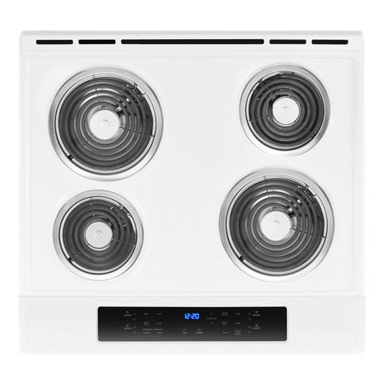 Model: WEC310S0FW | Whirlpool 4.8 cu. ft. Guided Electric Front Control Coil Range