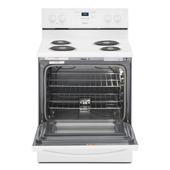 Model: WFC310S0EW | Whirlpool 4.8 Cu. Ft. Freestanding Electric Range with AccuBake® System