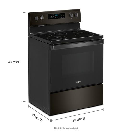 Model: WFE525S0JV | Whirlpool 5.3 cu. ft. Whirlpool® electric range with Frozen Bake™ technology