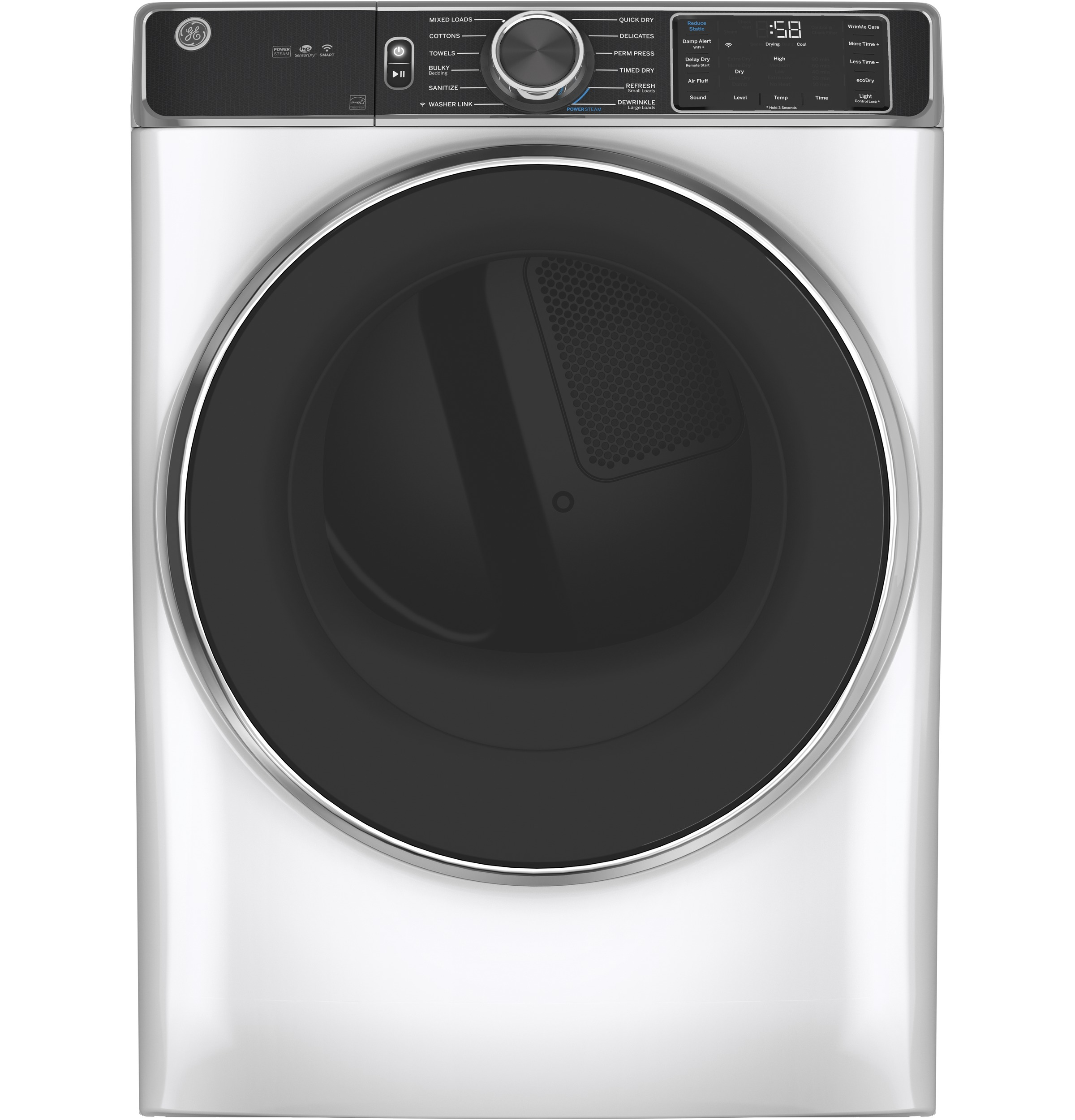 GE GE® 7.8 cu. ft. Capacity Smart Front Load Electric Dryer with Steam