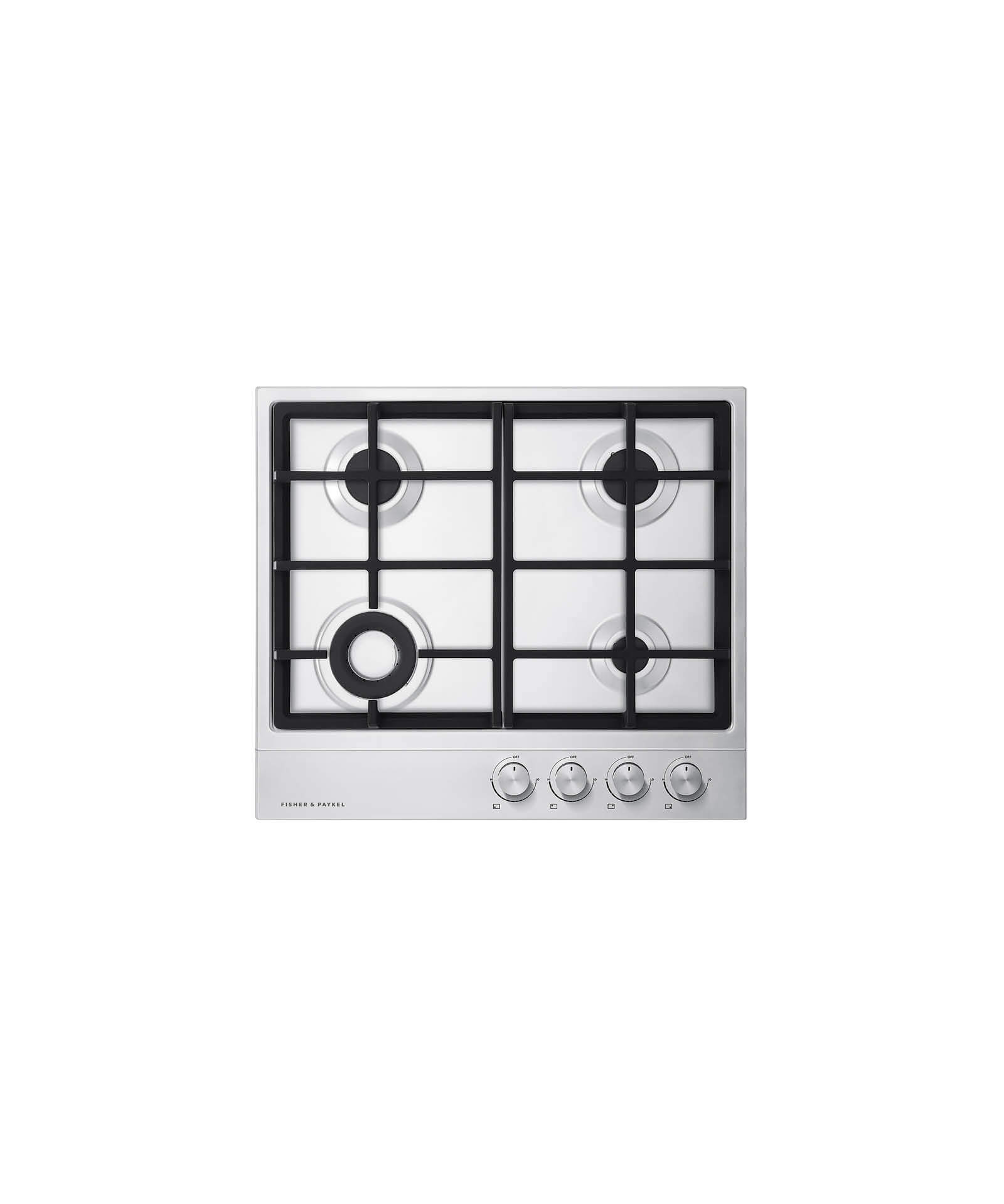 "Fisher and Paykel Gas on Steel Cooktop 24"" 4 Burner (LPG)"