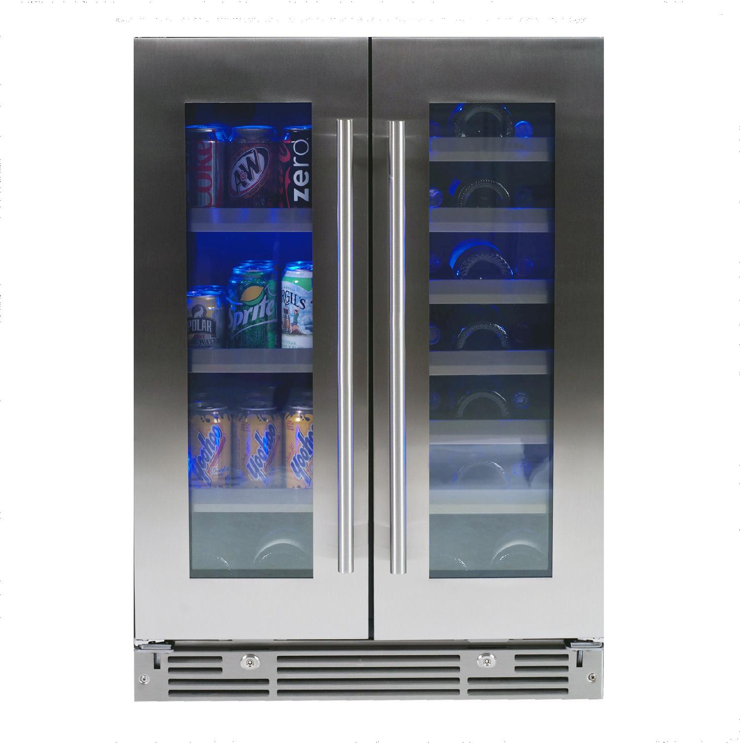 """XO Ventilation 24"""" Beverage/Wine Double Door"""