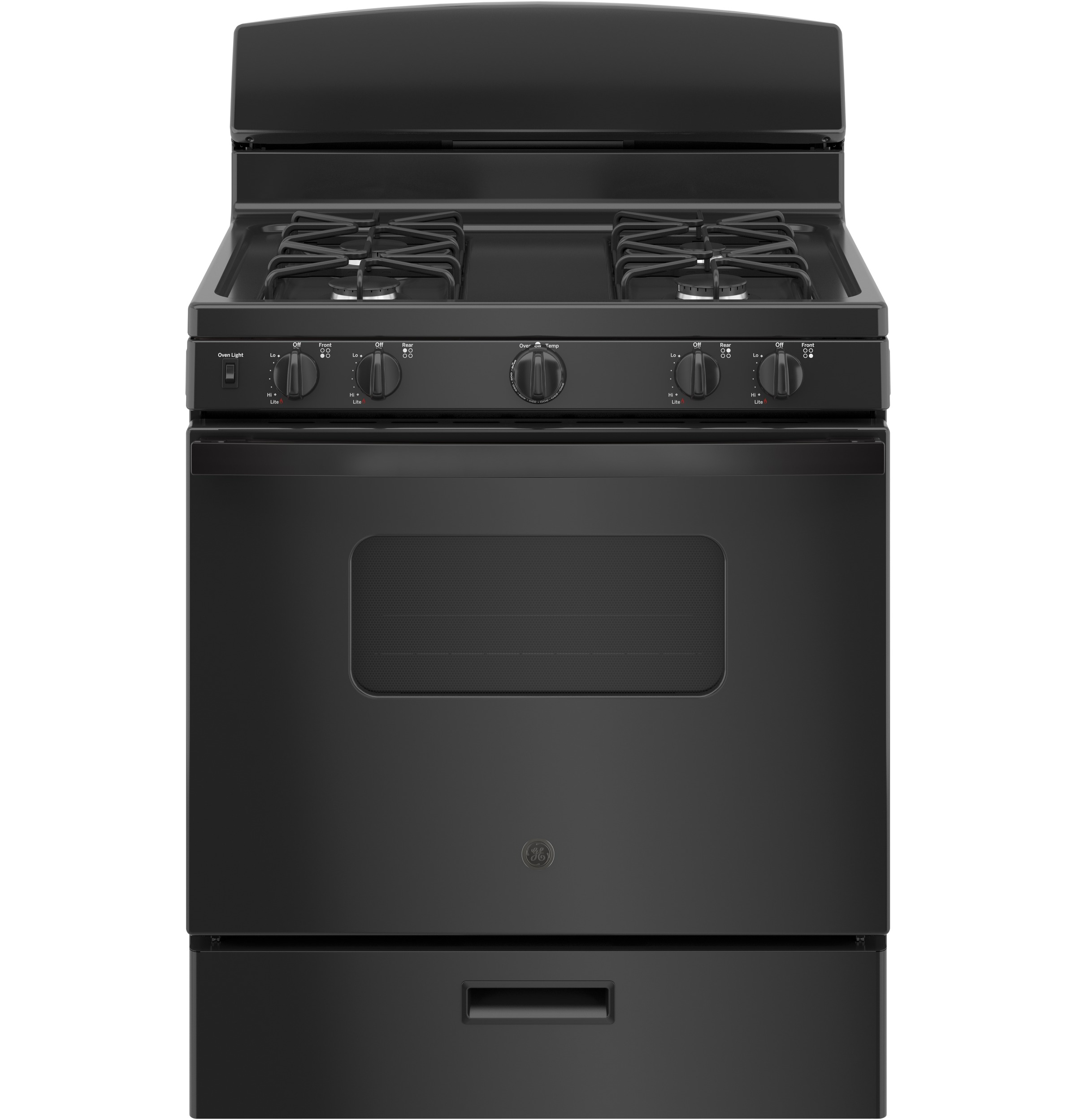 "GE GE® 30"" Free-Standing Front Control Gas Range"
