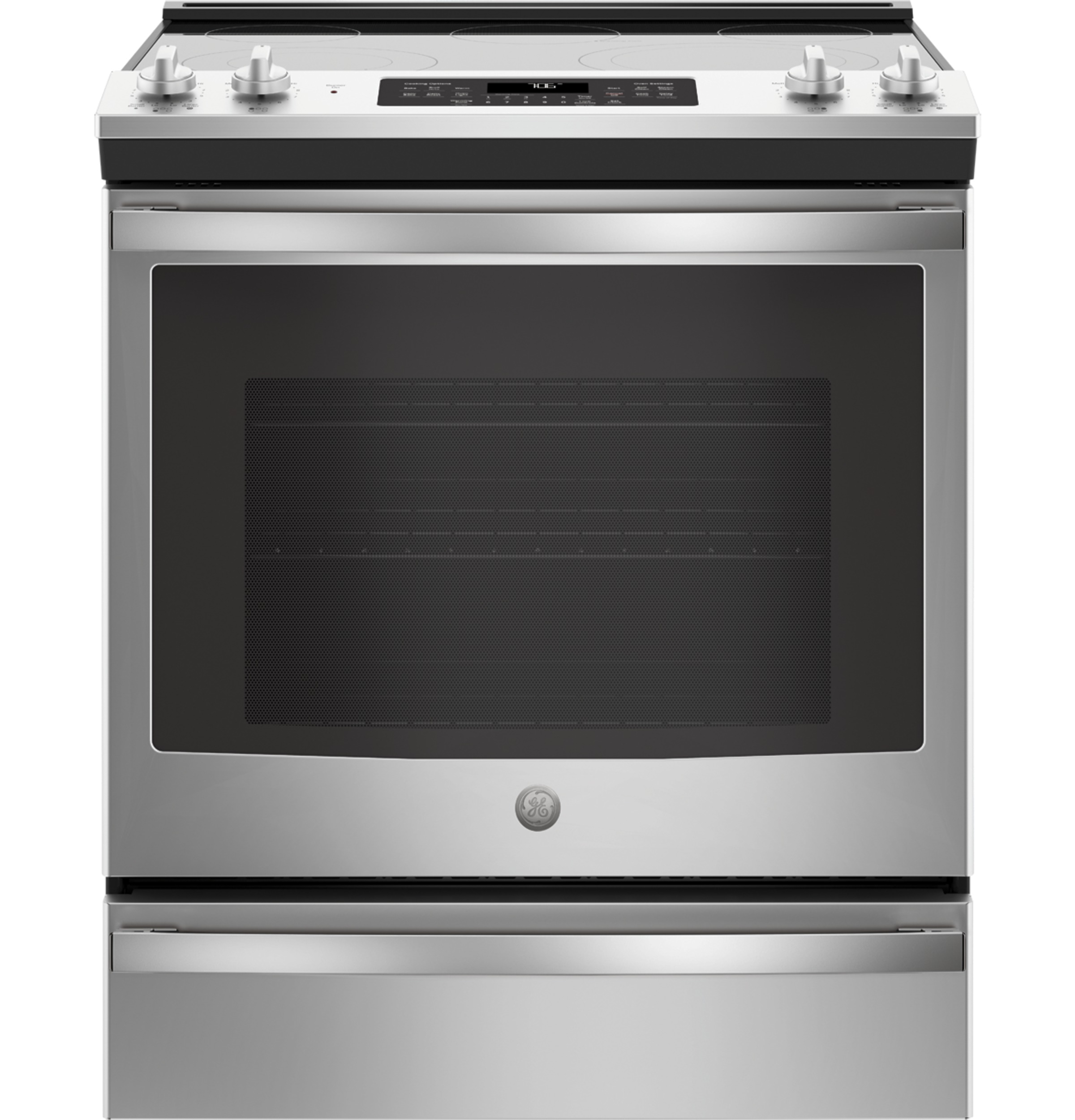 "GE GE® 30"" Slide-In Electric Convection Range"