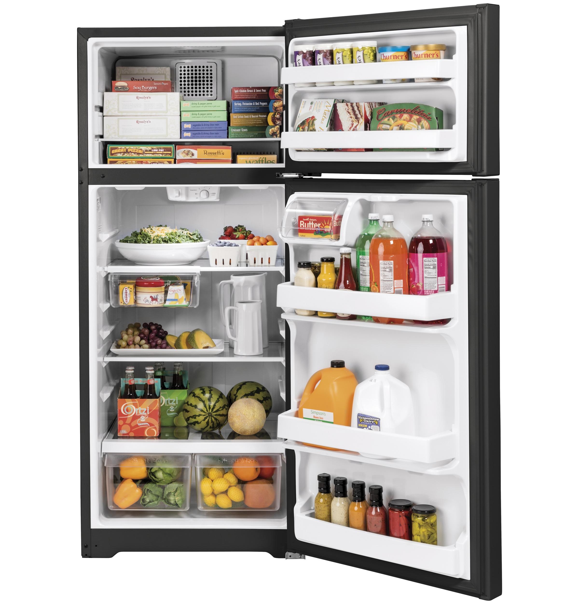 Model: GTS18HGNRBB | GE GE® 17.5 Cu. Ft. Top-Freezer Refrigerator