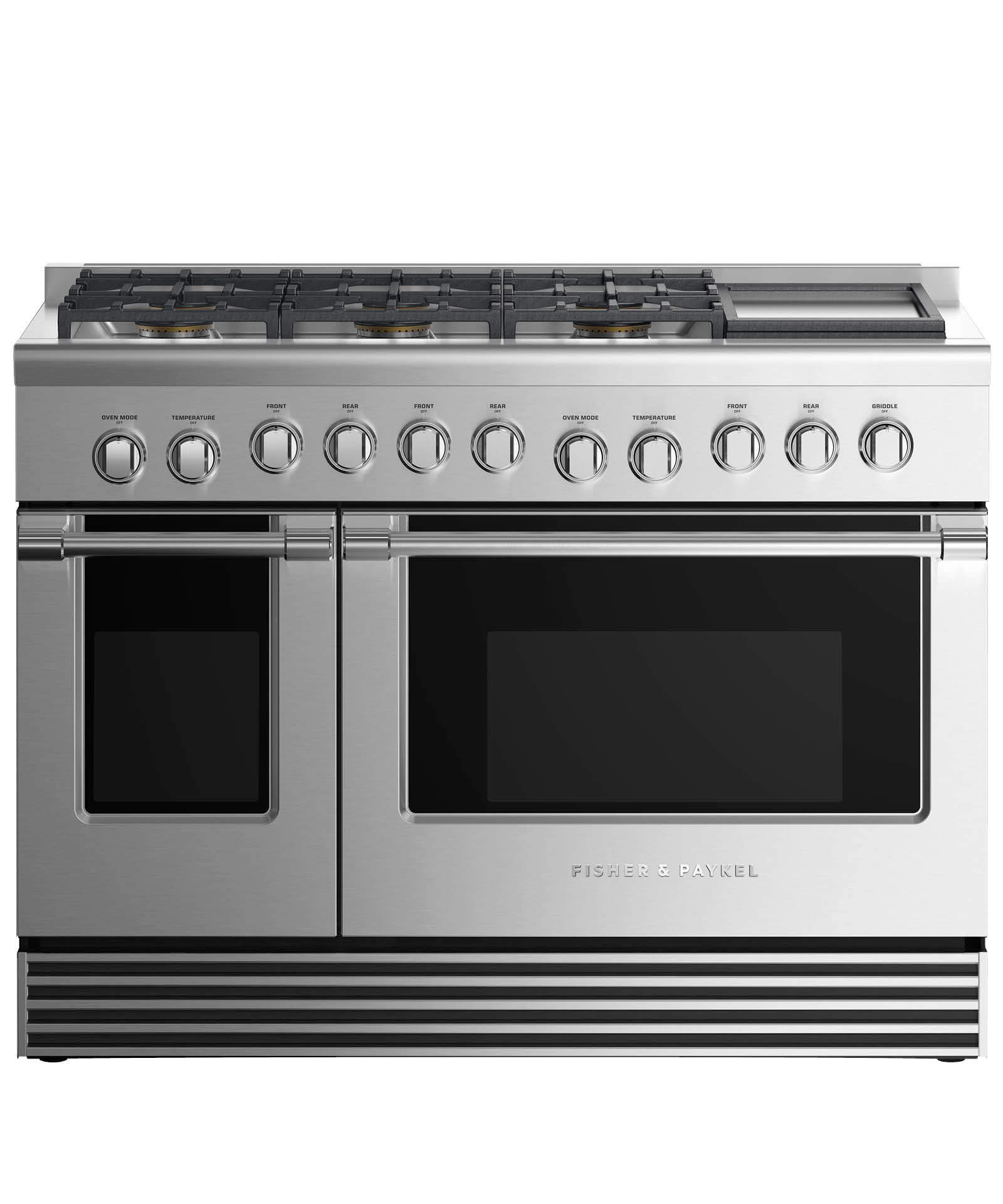 "Model: RDV2-486GD-N_N | Fisher and Paykel Dual Fuel Range 48"", 6 Burners with Griddle"