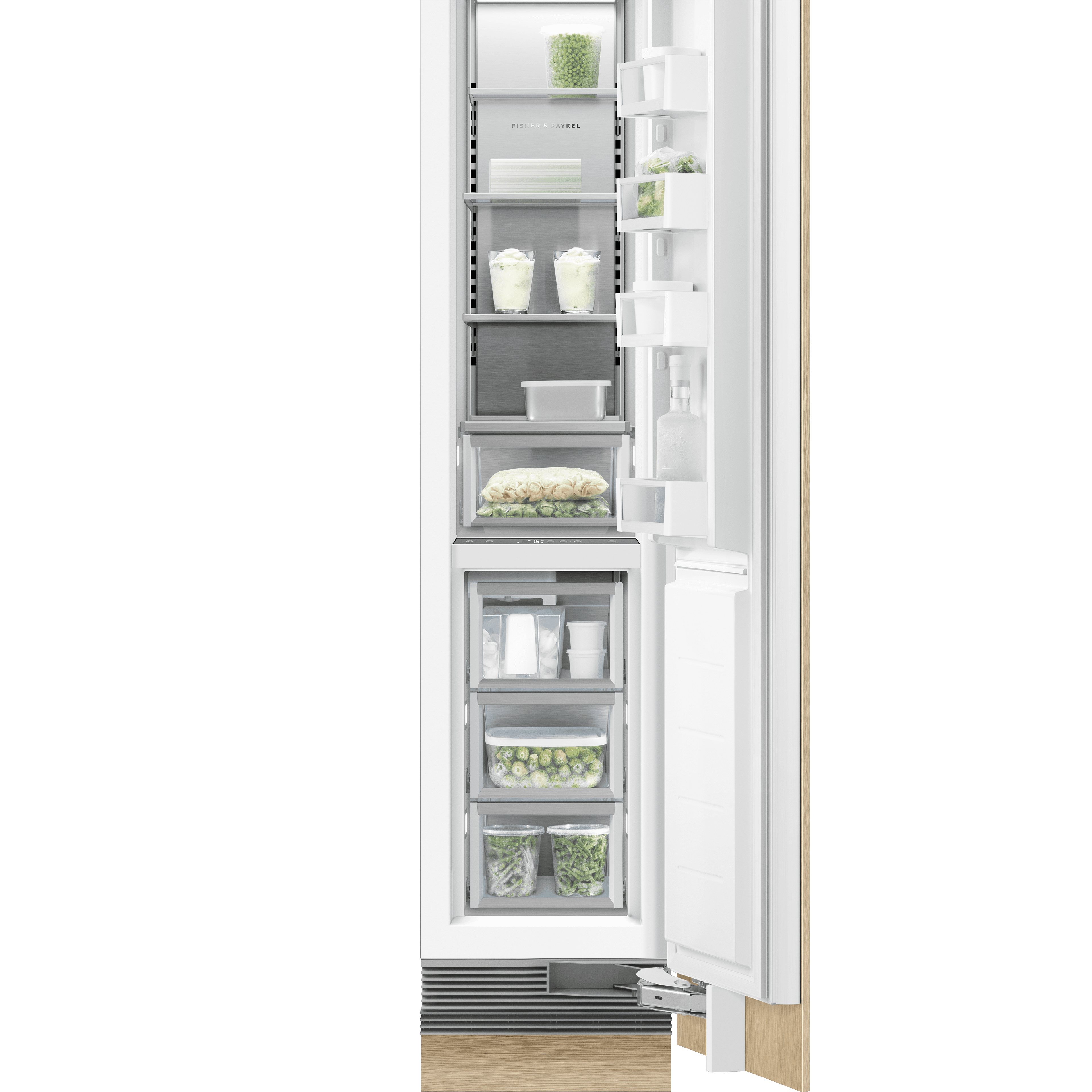 "Model: RS1884FRJK1 | Fisher and Paykel Integrated Column Freezer 18"", Stainless Steel Interior"