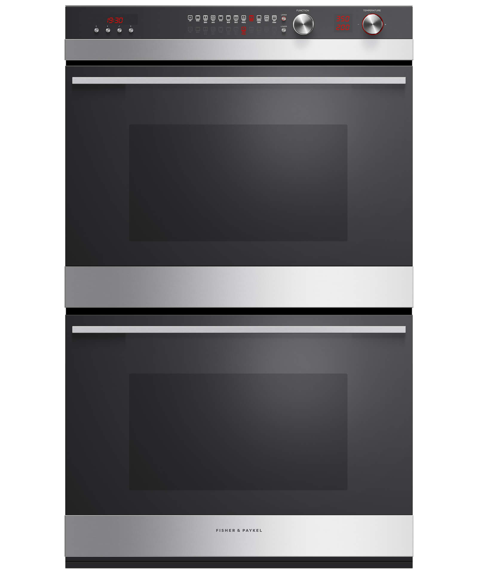 "Fisher and Paykel Double Built-in Oven, 30"" 8.2 cu ft, 11 Function"