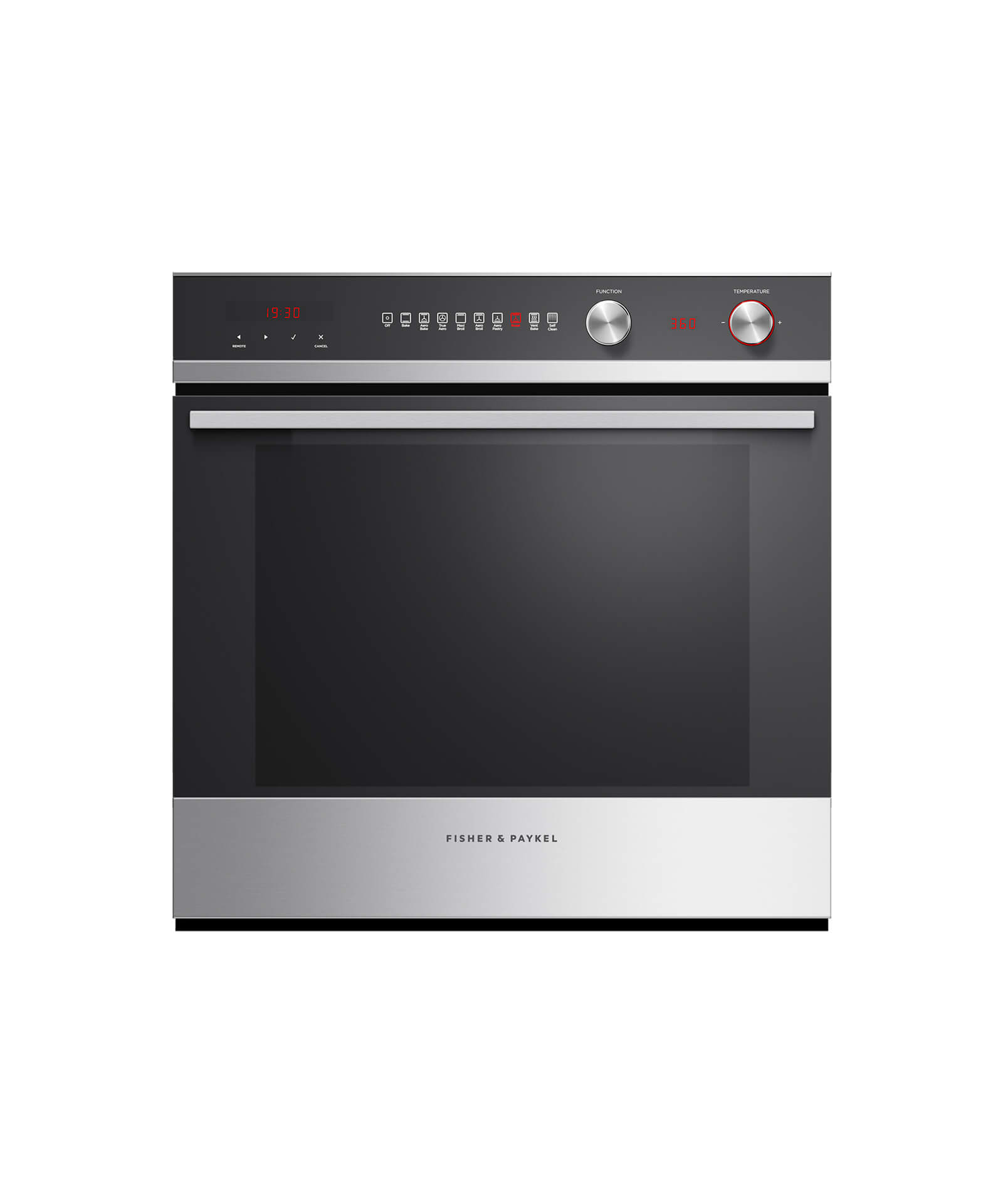 "Fisher and Paykel Built-in Oven, 24"", 3 cu ft, 9 Function, Self-cleaning"
