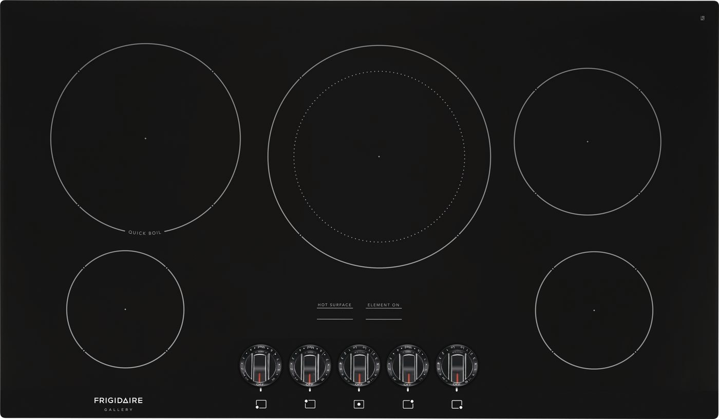 "Model: FGEC3648UB | Frigidaire Gallery 36"" Electric Cooktop"