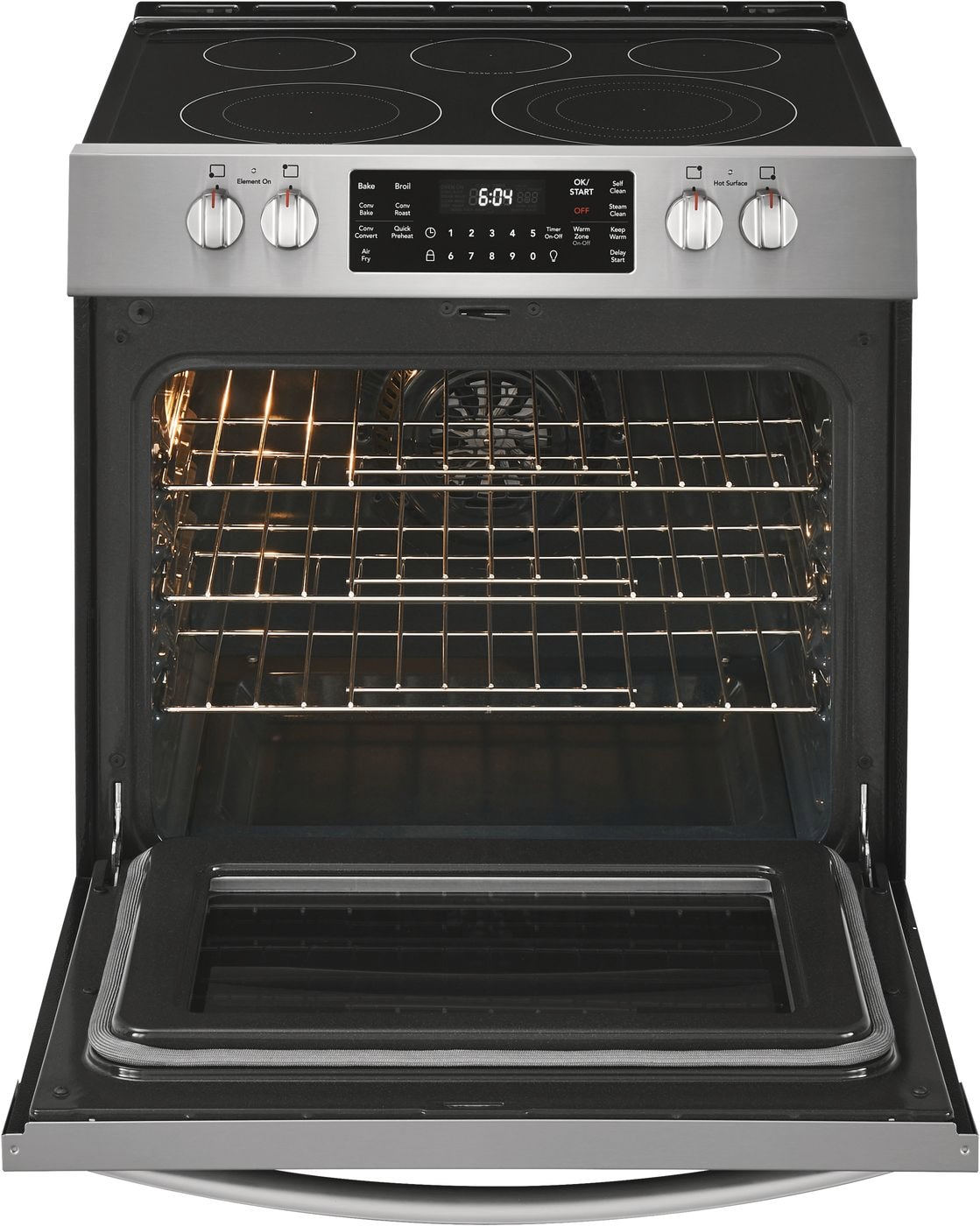 "Model: FGEH3047VF | Frigidaire Gallery 30"" Front Control Electric Range with Air Fry"