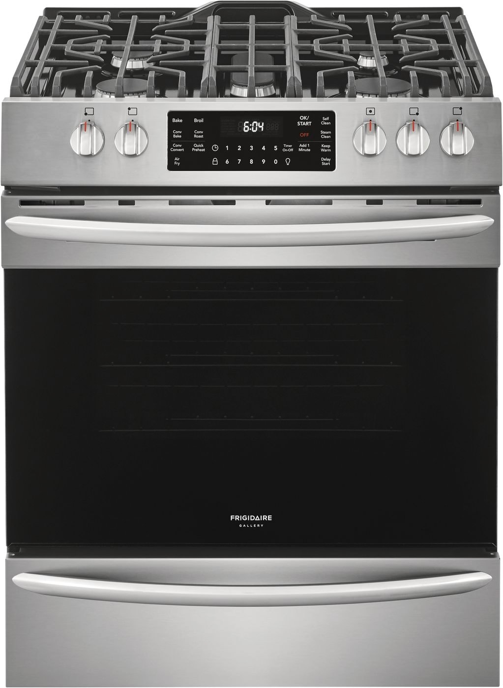 "Model: FGGH3047VF | Frigidaire Gallery 30"" Front Control Gas Range with Air Fry"