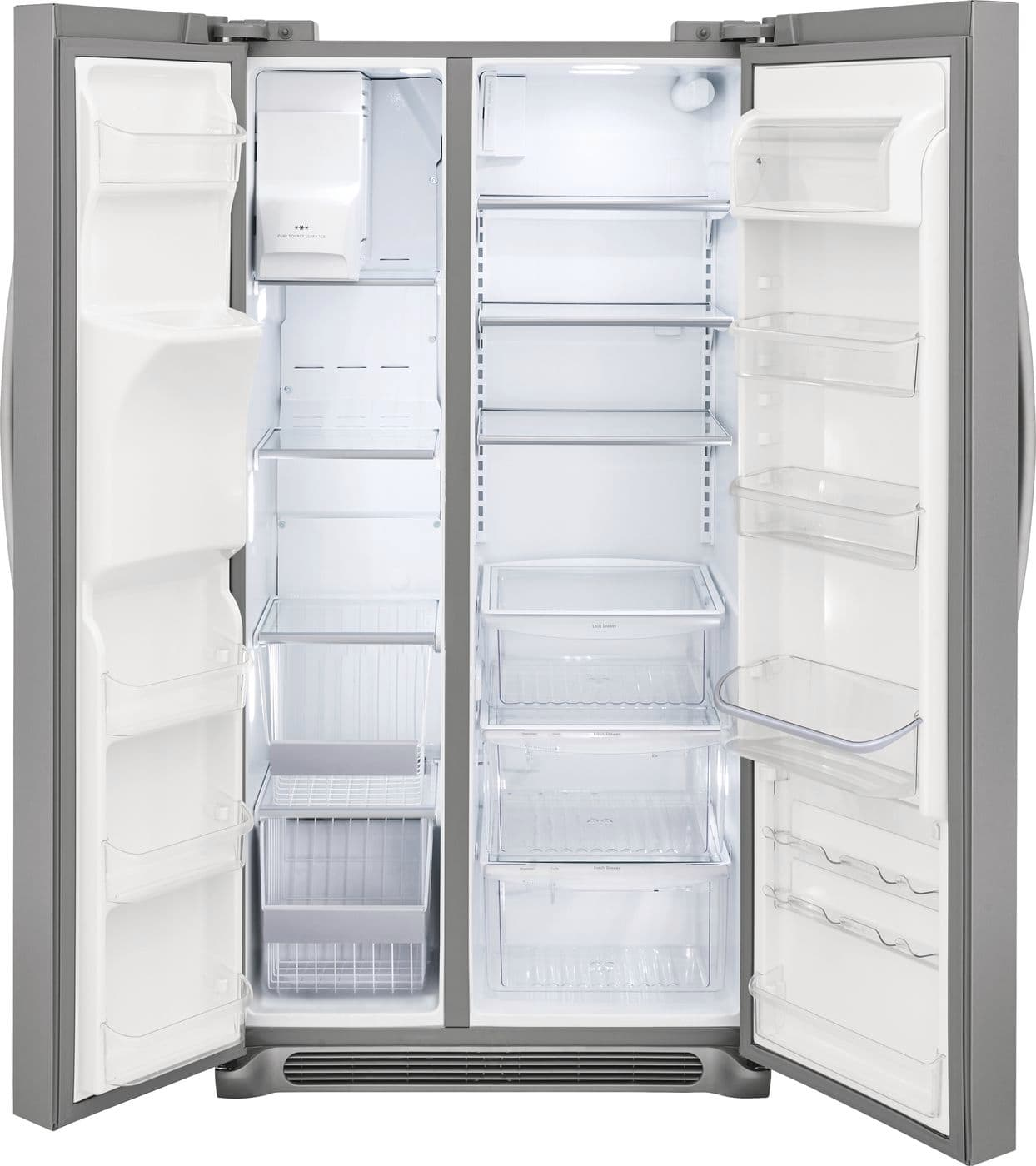 Model: FGSC2335TF | Frigidaire Gallery 22.2 Cu. Ft. Counter-Depth Side-by-Side Refrigerator
