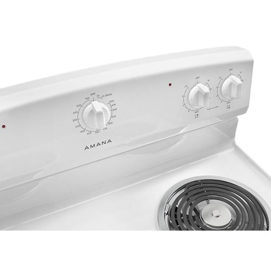 Model: ACR2303MFW | Amana 30-inch Electric Range with Warm Hold