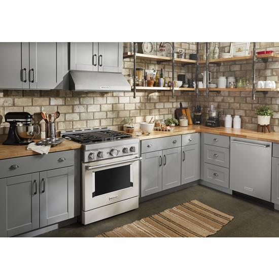 Model: KDTE234GPS | KitchenAid 46 DBA Dishwasher with Third Level Rack and PrintShield™ Finish