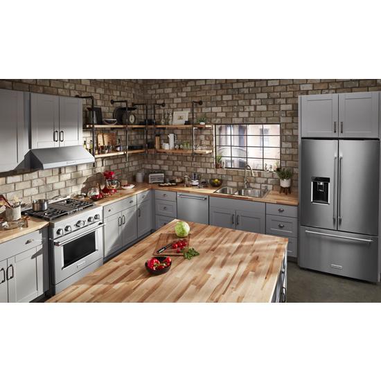 Model: KDTE234GPS | KitchenAid 46 DBA Dishwasher with Third Level Rack and PrintShield™ Finish