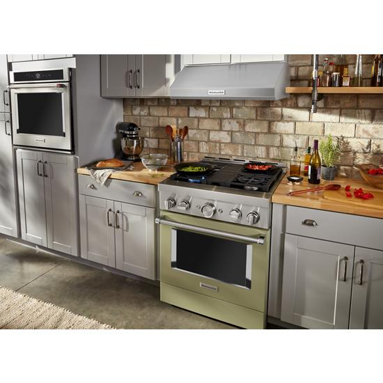 Model: KFGC500JAV | KitchenAid KitchenAid® 30'' Smart Commercial-Style Gas Range with 4 Burners