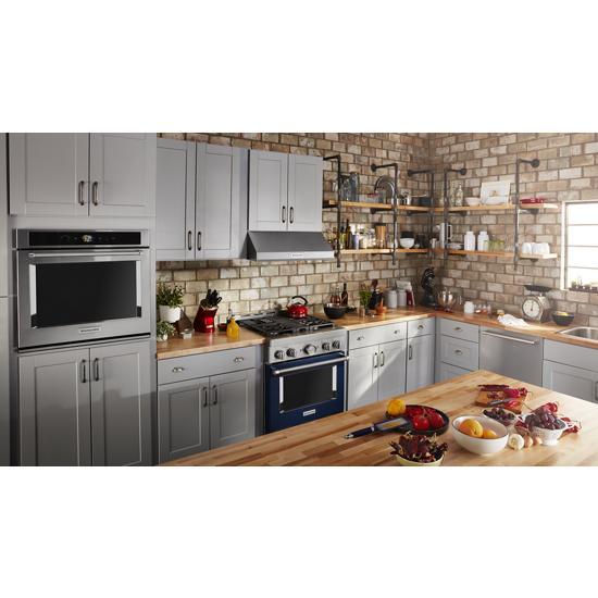 Model: KFGC500JIB | KitchenAid KitchenAid® 30'' Smart Commercial-Style Gas Range with 4 Burners