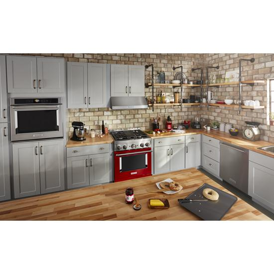 Model: KFGC500JPA | KitchenAid KitchenAid® 30'' Smart Commercial-Style Gas Range with 4 Burners
