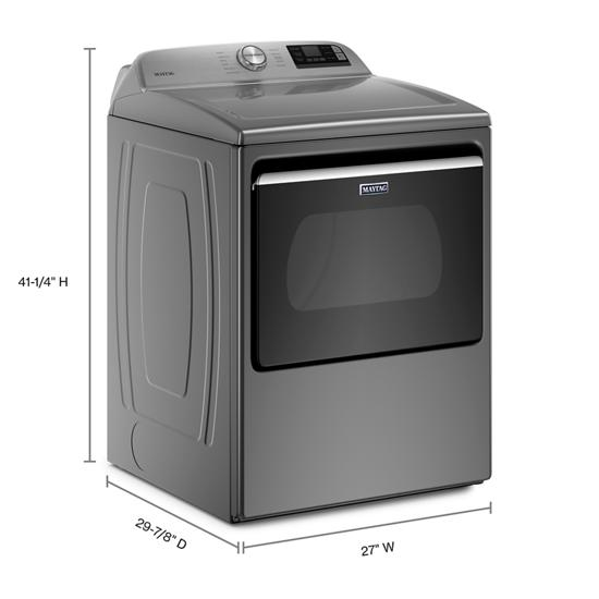Model: MED6230HC | Maytag Smart Capable Top Load Electric Dryer with Extra Power Button - 7.4 cu. ft.